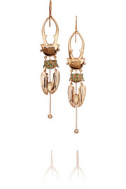 Daniela Villegas Polka 18-karat rose gold multi-stone earrings
