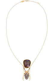 Daniela Villegas Yhi 18-karat rose gold multi-stone necklace