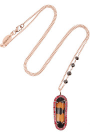 Daniela Villegas Sister Sister 18-karat rose gold multi-stone necklace
