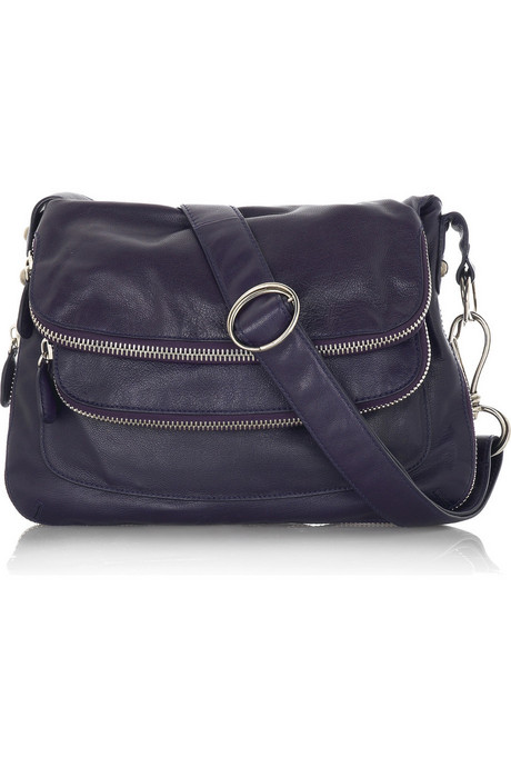 Crosstown leather messenger bag - Donna Karan from net-a-porter.com