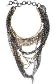 VICKISARGE Nico silver-plated Swarovski crystal necklace
