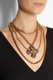 VICKISARGE Speakeasy gold-plated Swarovski crystal necklace