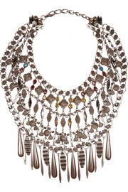 VICKISARGE Bronze-plated Swarovski crystal necklace