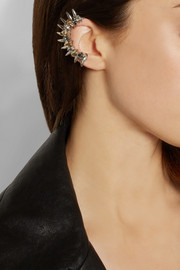 VICKISARGE Speakeasy palladium-plated Swarovski crystal ear cuff