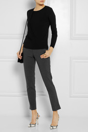 Theory Cropped stretch-crepe straight-leg pants