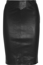 Joseph Claire nappa leather pencil skirt