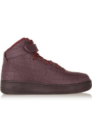 Air Force 1 Shanghai leather high-top sneakers