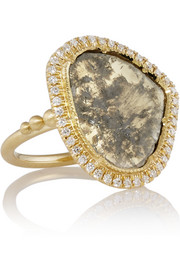 Brooke Gregson 18-karat gold diamond ring