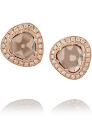 Brooke Gregson 18-karat rose gold diamond earrings
