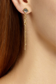 Brooke Gregson 18-karat gold diamond earrings