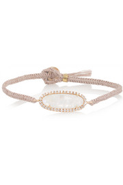 Brooke Gregson 14-karat rose gold, moonstone and diamond bracelet