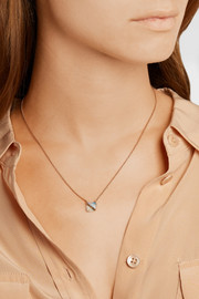 Brooke Gregson 18-karat rose gold, opal and diamond necklace