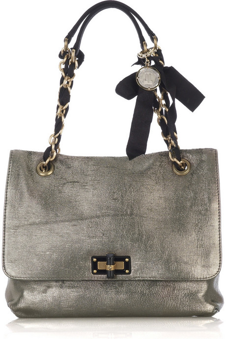 Happy Partage metallic lamé bag - Lanvin from net-a-porter.com
