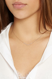 Diane Kordas Chevron 18-karat rose gold diamond necklace