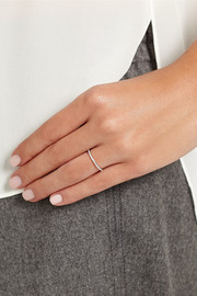 Ileana Makri 18-karat white gold diamond eternity thread ring