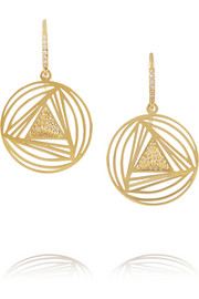 Ileana Makri Geometry 18-karat gold diamond earrings