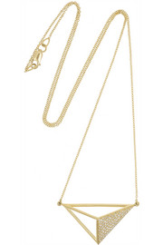 Ileana Makri Bermuda Triangle 18-karat gold diamond necklace