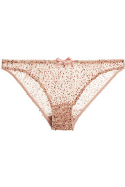 Agent Provocateur Soirée Czarinah sequined tulle briefs