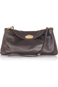 Miu Miu | Leather messenger bag | NET-A-PORTER.COM from net-a-porter.com