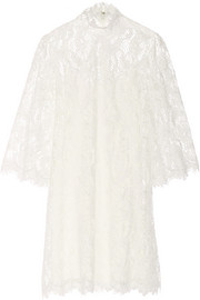 Marchesa Embellished lace mini dress