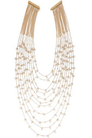 Divina Amore gold-dipped freshwater pearl multi-strand necklace