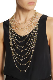 Rosantica Divina Amore gold-dipped freshwater pearl multi-strand necklace