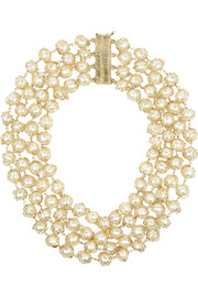 Gold-dipped freshwater pearl necklace