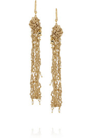 Rosantica Penelope gold-dipped freshwater pearl earrings
