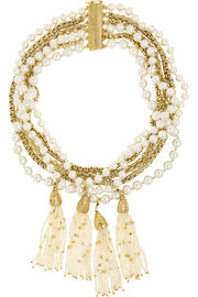Himalaya gold-dipped pearl necklace