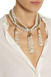Rosantica Himalaya gold-dipped pearl necklace