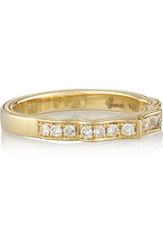 + Wear LACMA 18-karat gold pavé diamond ring
