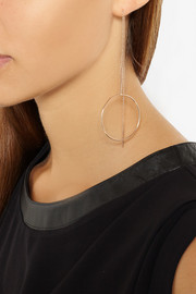 Maria Black Monocle rose gold-plated earrings