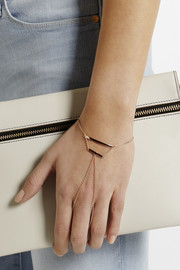 Maria Black Theo rose gold-plated finger bracelet