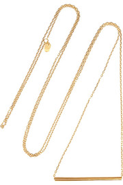 Maria Black Tube gold-plated necklace