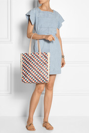 + Wear LACMA Margot leather-trimmed printed canvas tote