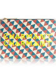 Clare V + Wear LACMA Margot printed leather clutch