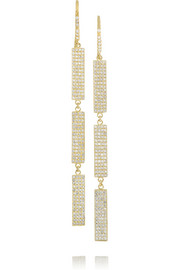 Jennifer Meyer 18-karat gold diamond drop earrings
