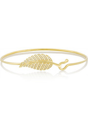 Jennifer Meyer 18-karat gold diamond leaf bracelet