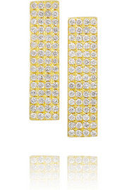 Jennifer Meyer 18-karat gold diamond earrings