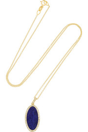 Jennifer Meyer 18-karat gold, lapis lazuli and diamond necklace