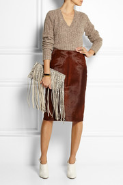 Topshop Unique Calf hair pencil skirt