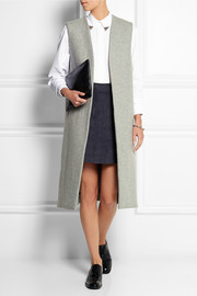 Topshop Unique Sleeveless wool-blend coat