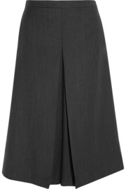 Topshop Unique Pleated herringbone twill culottes