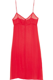 Topshop Unique Silk-georgette slip dress