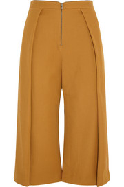 Topshop Unique High-rise pleated wool-twill culottes