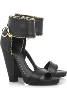 Givenchy | Zip-detailed leather sandals | NET-A-PORTER.COM from net-a-porter.com