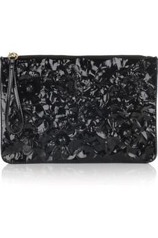 Valentino Primavere floral leather clutch