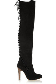 Topshop Unique Suede over-the-knee boots