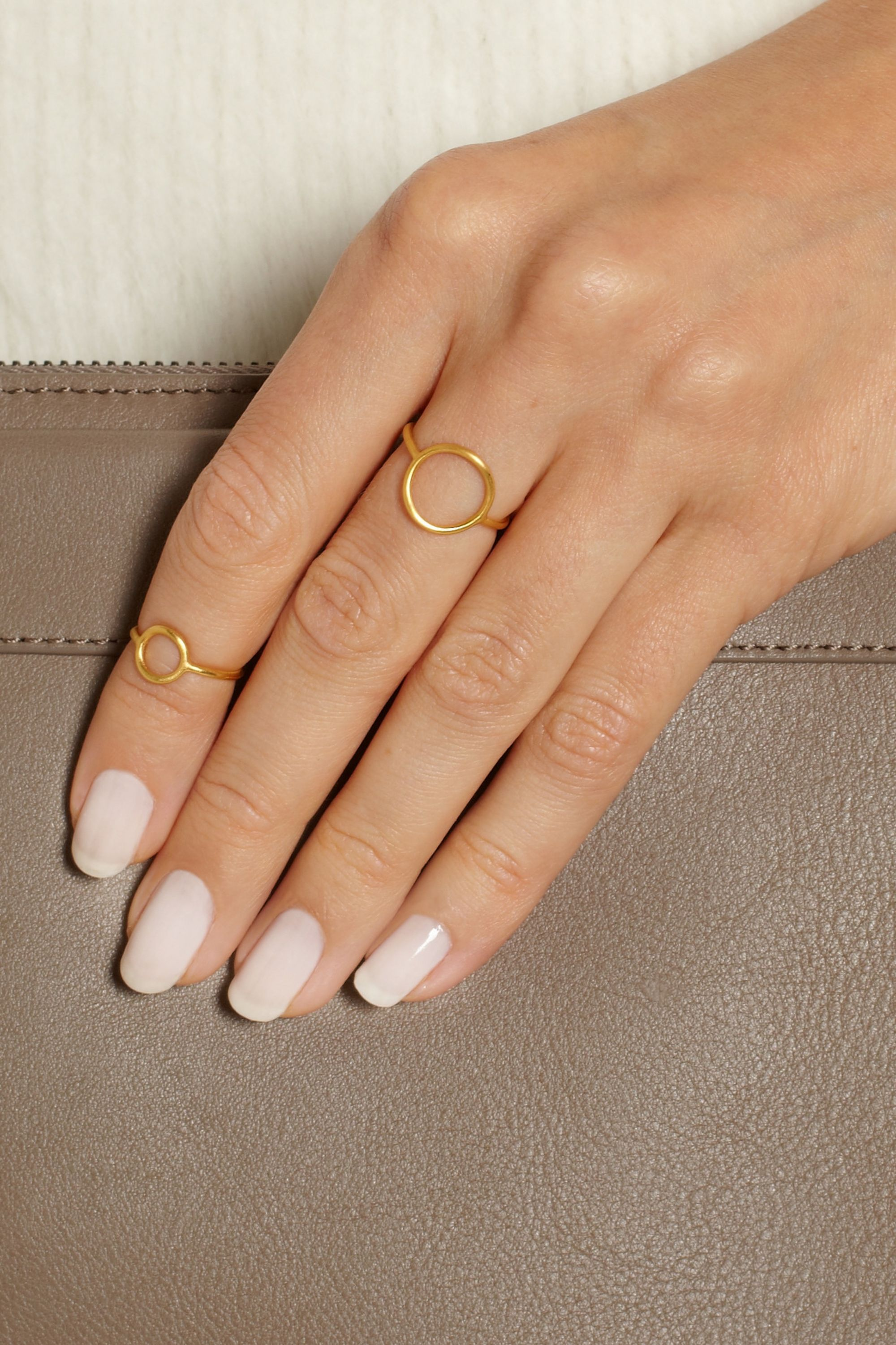 Maria Black Monocle gold-plated ring