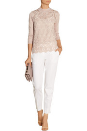 DAY Birger et Mikkelsen Day Flore lace-paneled knitted sweater